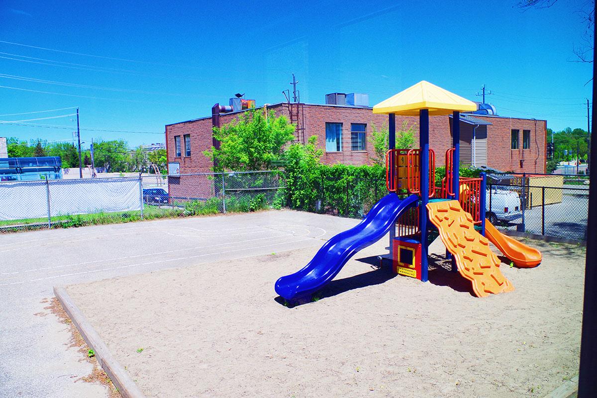 playground at simcoe street montessori school newmarket